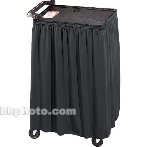 """C168.204   Draper    Skirt for Mobile AV Carts/Tables - 50 x 110""""- Black Poly-Knit"""