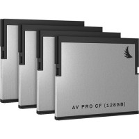 AVP128CFX4 Angelbird 128GB AV Pro CF CFast 2.0 Memory Card (4-Pack)